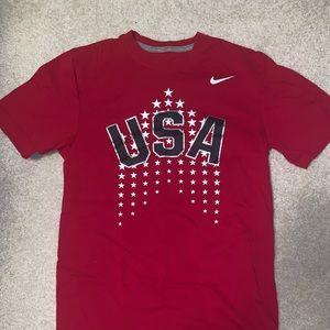 Nike dri fit red Olympic team USA T-shirt